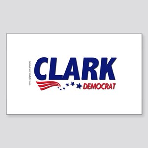 """Clark Democrat"" Rectangle Sticker"