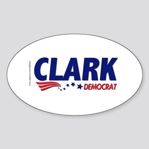 """Clark Democrat"" Oval Sticker"