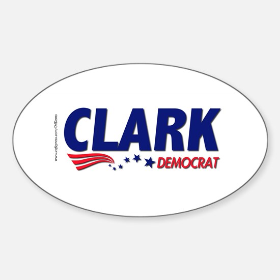 """Clark Democrat"" Oval Stickers"