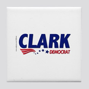 """Clark Democrat"" Tile Coaster"