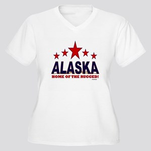 Alaska Home Of The Rugged Women's Plus Size V-Neck