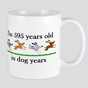 85 dog years birthday 2 Mug