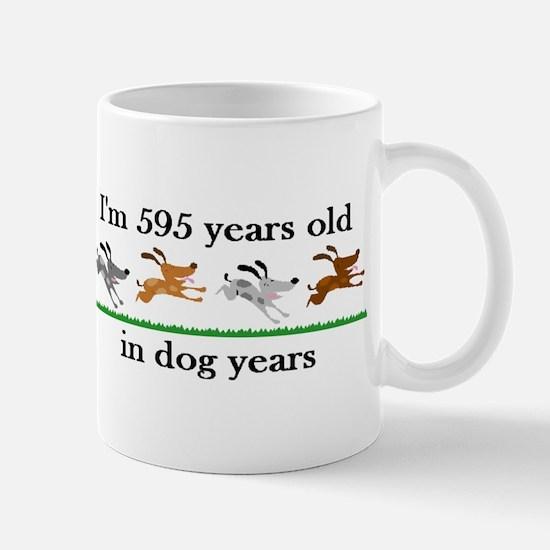 85 dog years birthday 2 Mug