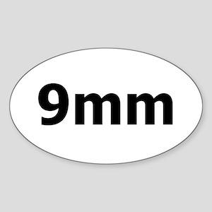 9mm Oval Sticker
