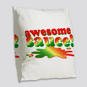 Awesome Sauce Burlap Throw Pillow