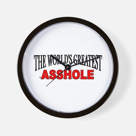 """The World's Greatest Asshole"" Wall Clock"