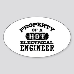 Property of a Hot Electrical Engineer Sticker (Ova