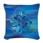 Atom Sea #9 Woven Throw Pillow