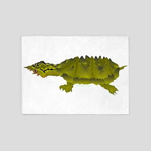 Matamata Amazon Turtle v 5'x7'Area Rug