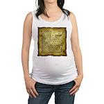Celtic Letter L Maternity Tank Top