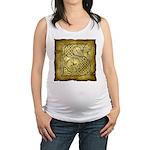 Celtic Letter S Maternity Tank Top