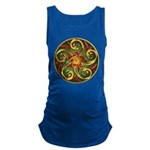 Celtic Pentacle Spiral Maternity Tank Top