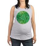 Celtic Triskele Maternity Tank Top