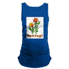 Spring Flowers Maternity Tank Top