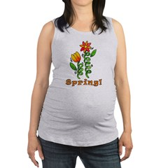 Spring Flowers Maternity Tank Top
