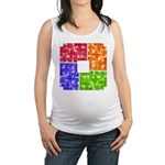 Aerial Color Plots Maternity Tank Top
