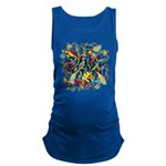 Leaves on Water Watercolor Maternity Tank Top