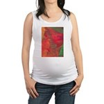 Autumn Fury Abstract Maternity Tank Top