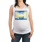 Birthday Box Watercolor Maternity Tank Top
