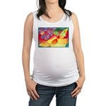 Fruit Montage Watercolor Maternity Tank Top