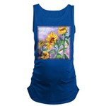 Sunny Sunflowers Watercolor Maternity Tank Top