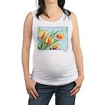Tulips Watercolor Maternity Tank Top