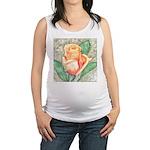 Peach Rose Watercolor Maternity Tank Top
