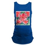 Watercolor Flowers Maternity Tank Top