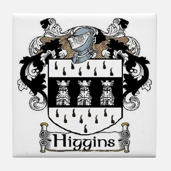 Higgins Coat of Arms Tile Coaster