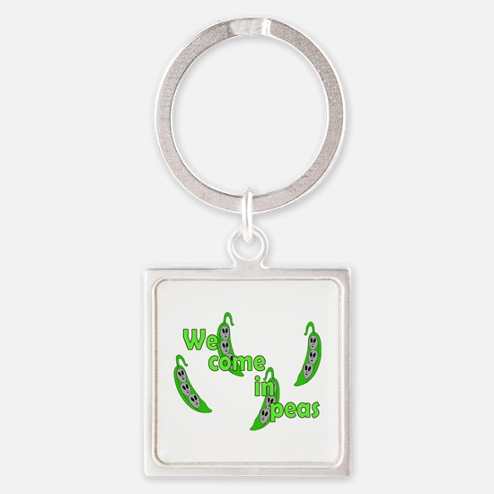 We Come in Peas Keychains