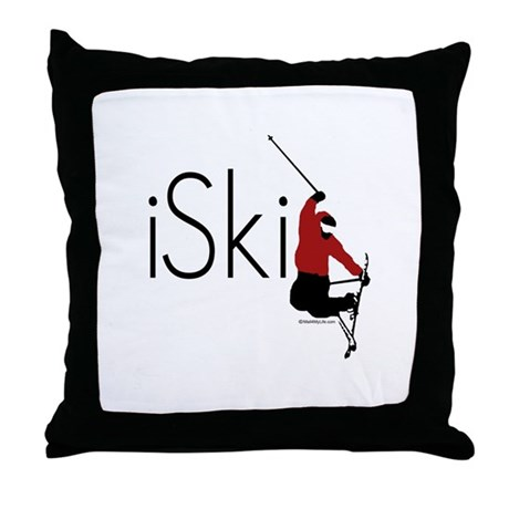 iSki Throw Pillow