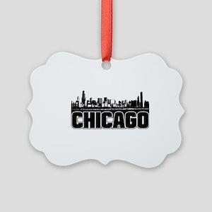 Chicago Skyline Picture Ornament