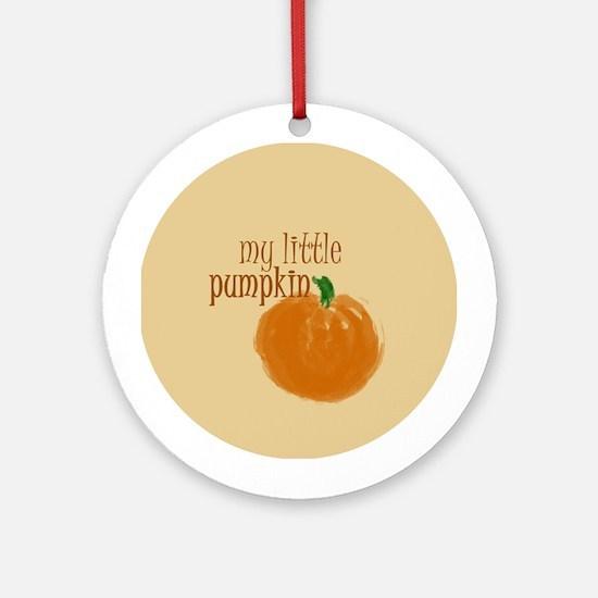 Little Pumpkin Ornament (Round)