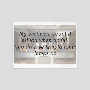 James 1:2 5'x7'Area Rug