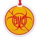NO GMO Ornament Bio-hazard Round Ornament