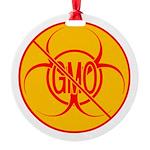 NO GMO Ornament Bio-hazard Round Ornament