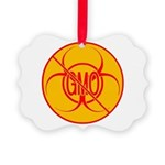 NO GMO Ornament Bio-hazard Picture Ornament