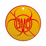 NO GMO Ornament Bio-hazard Ornament (Round)