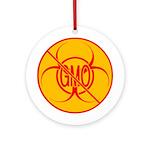 NO GMO Ornament Bio-hazard Ornament (Round)