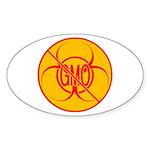 NO GMO Stickers Bio-hazard Sticker (Oval 10 pk)