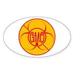 No GMO Biohazard Sticker (Oval)