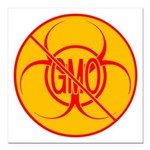 "NO GMO Car Magnet Bio-hazard Car Magnet 3"" x"