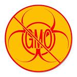 No GMO Biohazard Round Car Magnet