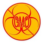 NO GMO Car Magnets Bio-hazard No GMO Car Magnet