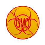 "No GMO Biohazard 3.5"" Button (100 pack)"