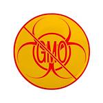 NO GMO Button Bio-hazard No GMO Button