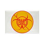 No GMO Biohazard Rectangle Magnet (100 pack)