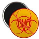 NO GMO Magnets Bio-hazard GMO Fridge Magnet 100 pk