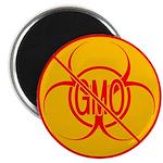 """No GMO Biohazard 2.25"""" Magnet (10 pack)"""