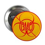 NO GMO Buttons Bio-hazard Mini GMO Button 100 pack